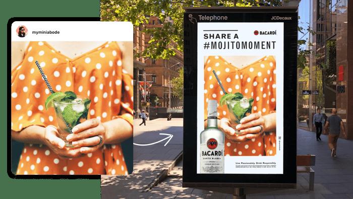 Bacardi x TRIBE Mojito Moments Billboards
