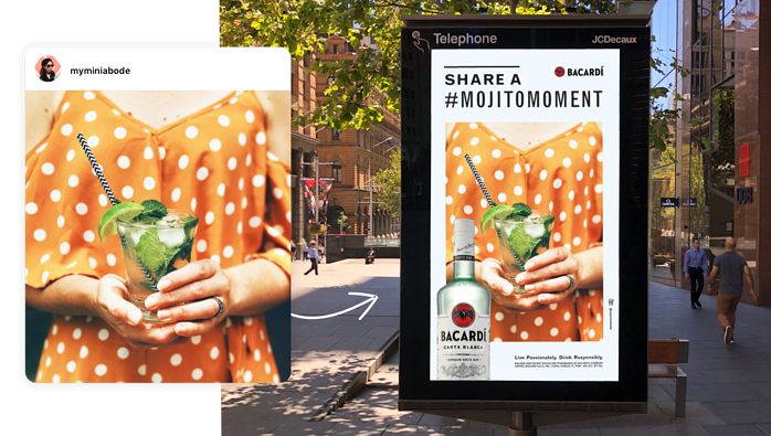 Bacardi x TRIBE Mojito Moments Billboards