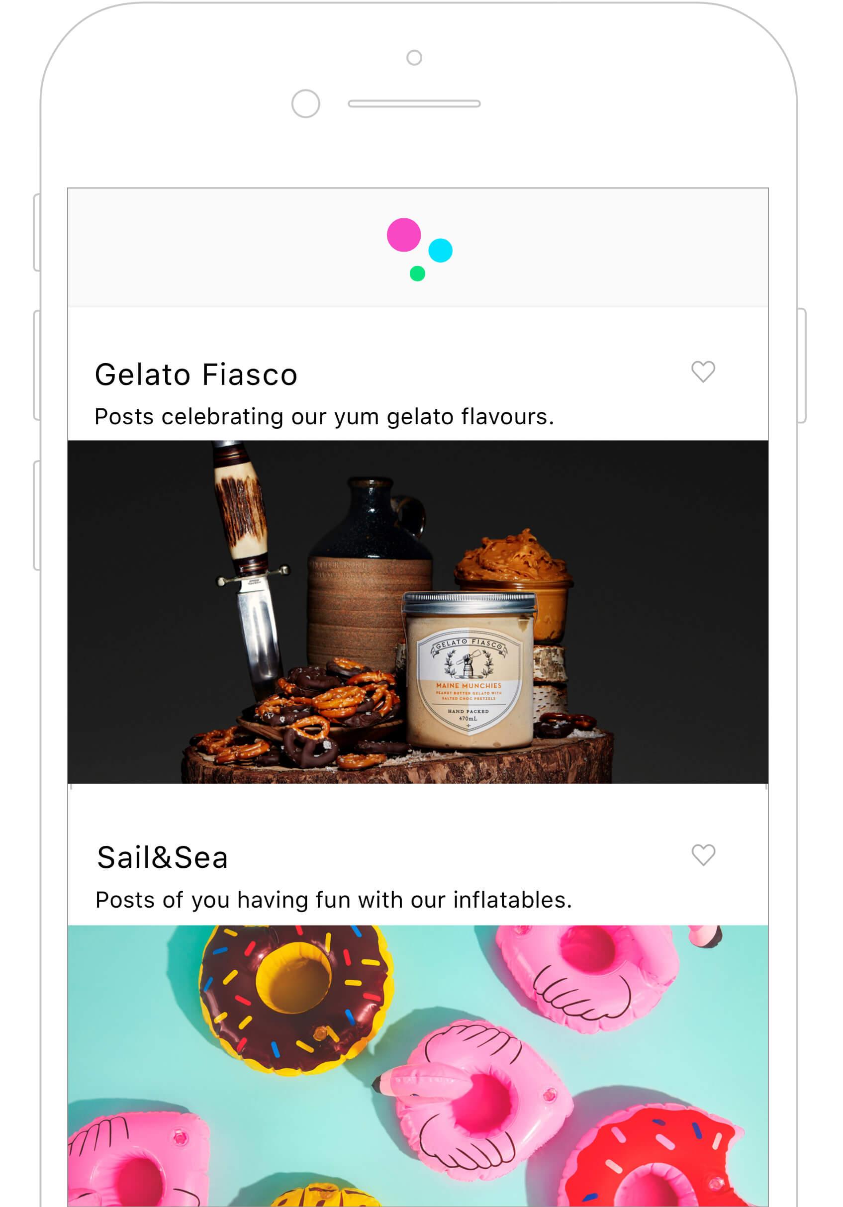 Gelato Fiasco in TRIBE app