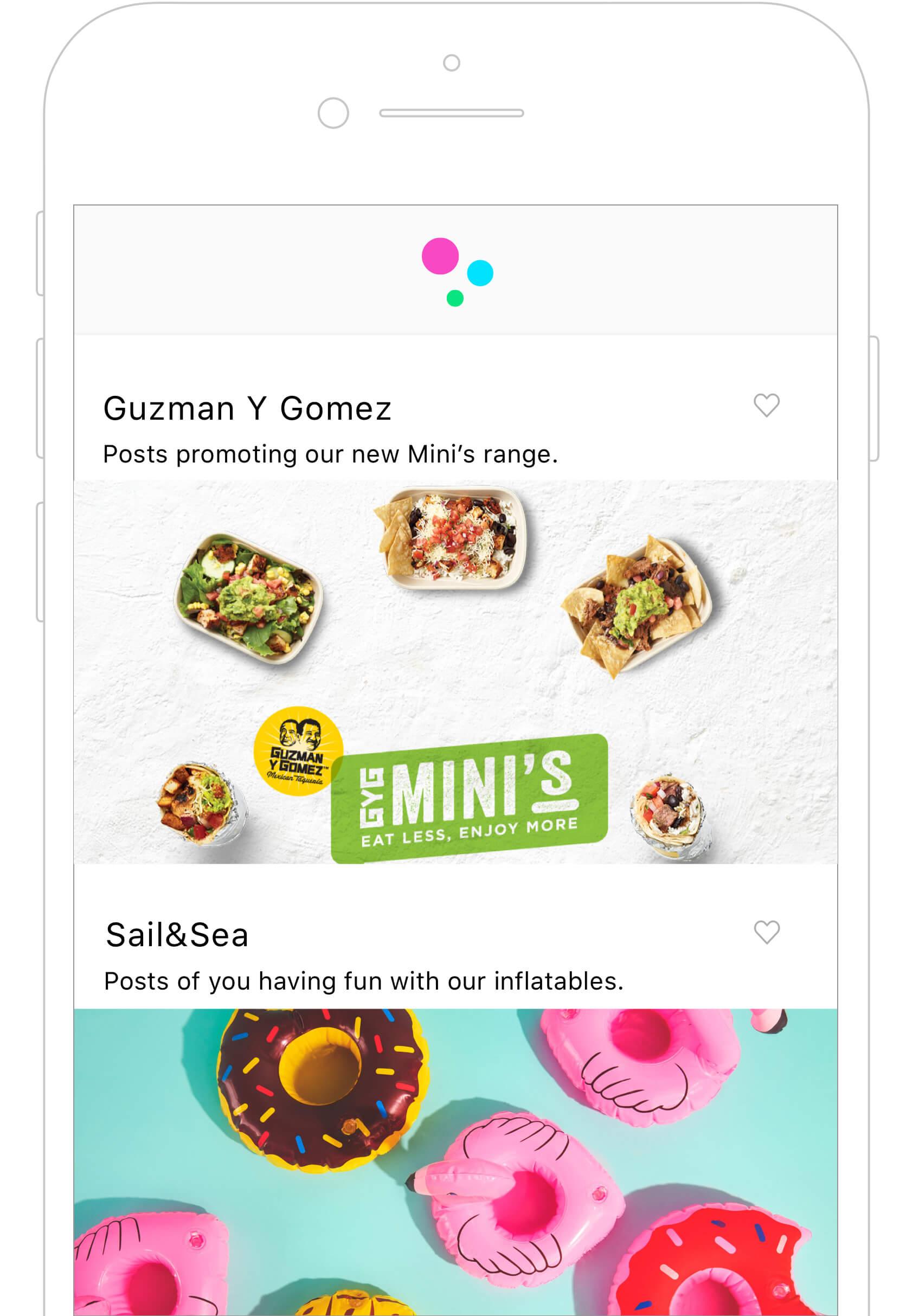 Guzman Y Gomez in the TRIBE app