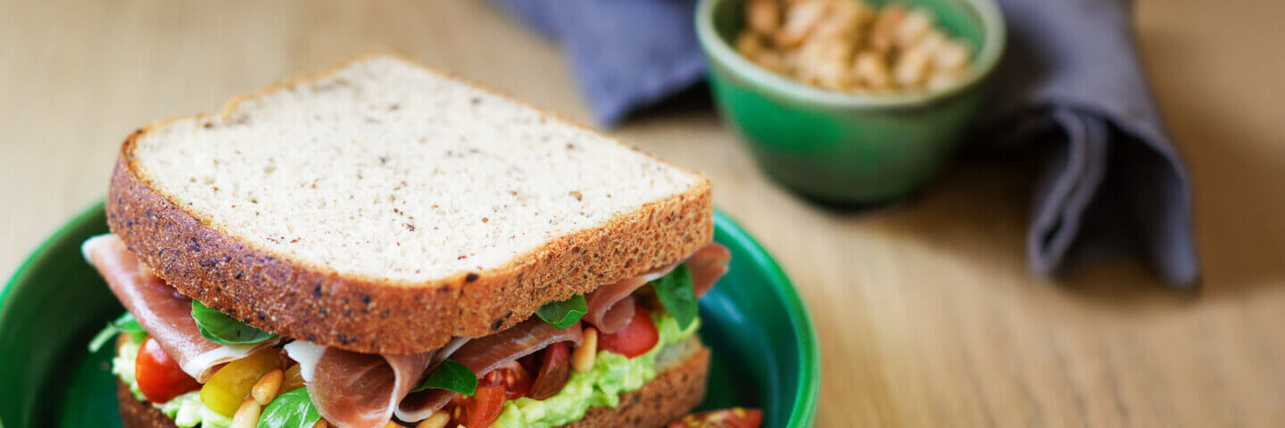 Sandwich made with Helga's bread