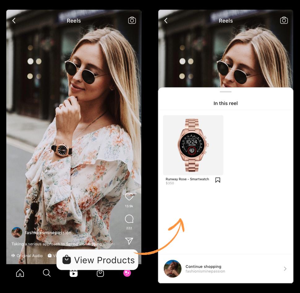 shopping on instagram instagram reels