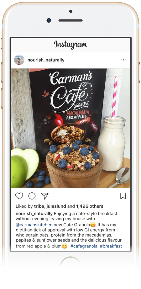 Bec-Gawthorne's-first-ever-tribe-influencer-post-with-carmens-muesli