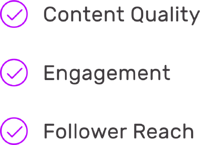 content quality engagement follower reach