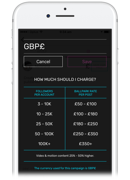 tribe-uk-influencer-pricing-guide-on-a-smartphone