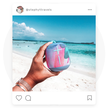 Branded content created by Influencers for their social channels