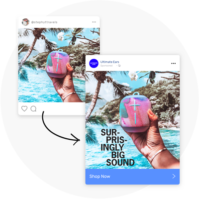 Brands amplifying Influencer content for their own social channels