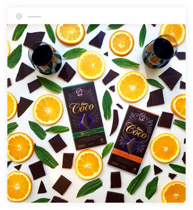 Cadbury Coco Dark Orange & Dark Mint