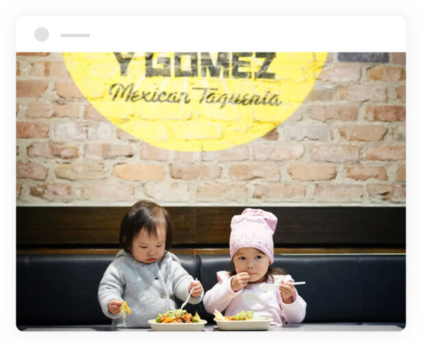babies eating at guzman y gomez