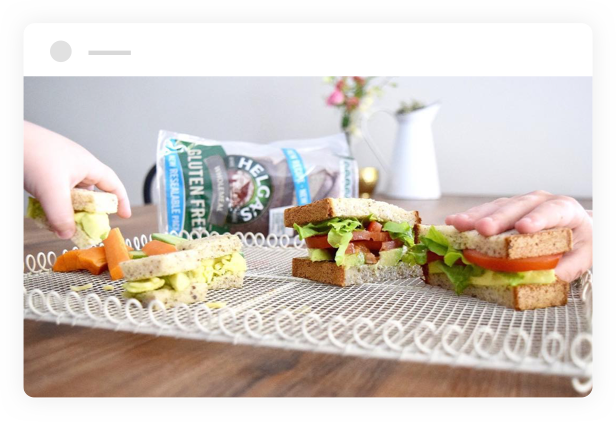 sandwiches made with Helga's Wholemeal Gluten Free Bread