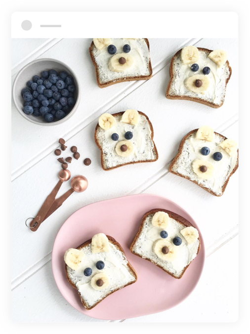 Toasts made with Helga's Bread