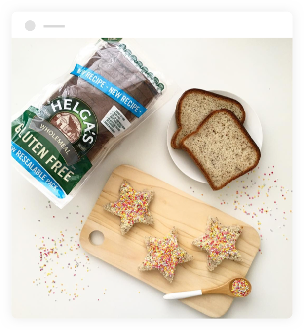Star-shaped toasts made with Helga's Wholemeal Gluten Free Bread
