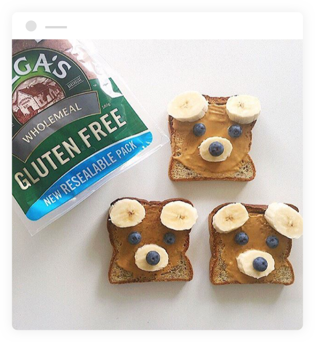 Toasts with Helga's Wholemeal Gluten Free Bread