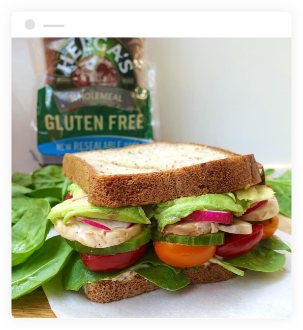 Chicken Sandwich made with Helga's Wholemeal Gluten Free Bread
