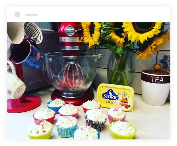 cupcakes made with stork butter